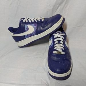 Womens Nike Air Force One Shoes Purple 8.5 1982's